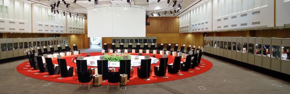 Kokoustekniikkaa ASEM 2006 -kokouksessa.