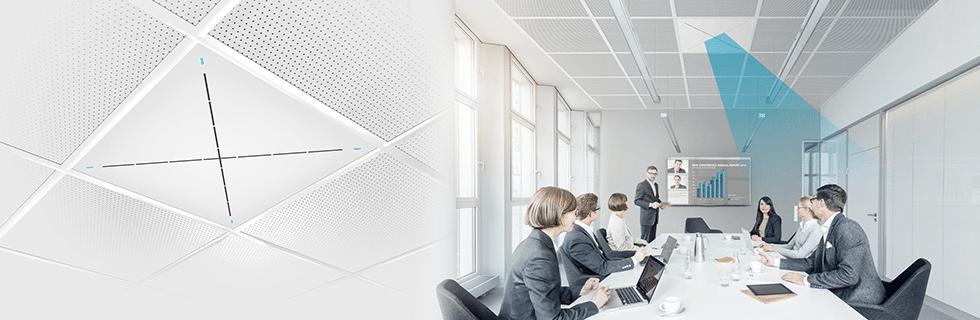 Suomen Kongressitekniikka Oy | Sennheiser TeamConnect Ceiling 2 -kattomikrofoni